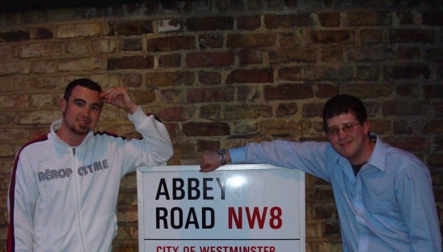 Paul and I at Abbey Road in 2007