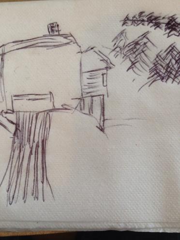 A 20-second sketch. I am sooo not an artist.