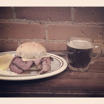 Clark's Ale House roast beef sandwich | Photo by Christopher Malone